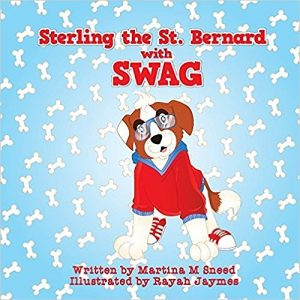 Sterling the St. Bernard with Swag