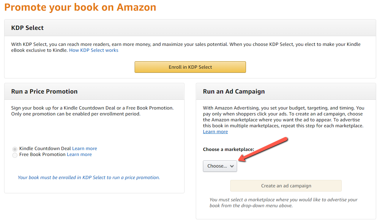 Promote your book on Amazon